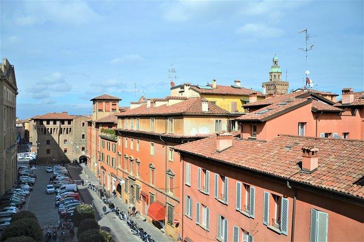 Panoramablick  art hotel novecento bologna, italia